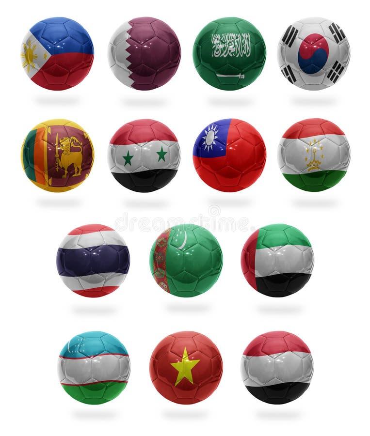 Le football asiatique de P à Y images stock