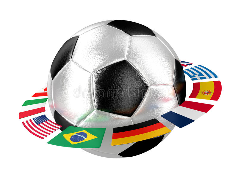 Le football avec des indicateurs illustration stock