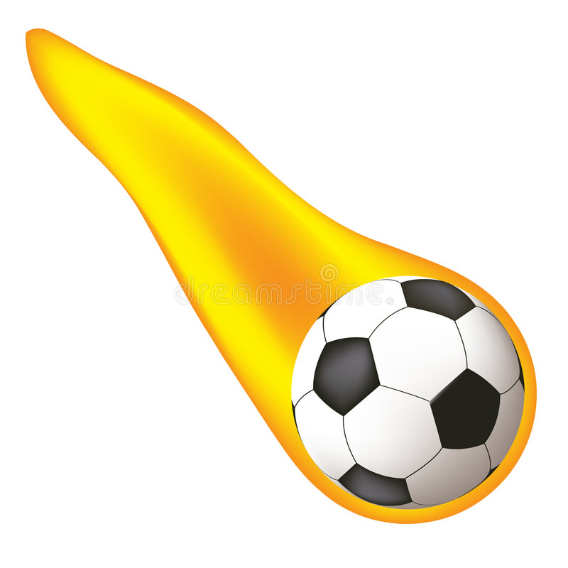 le football brûlant de bille illustration de vecteur