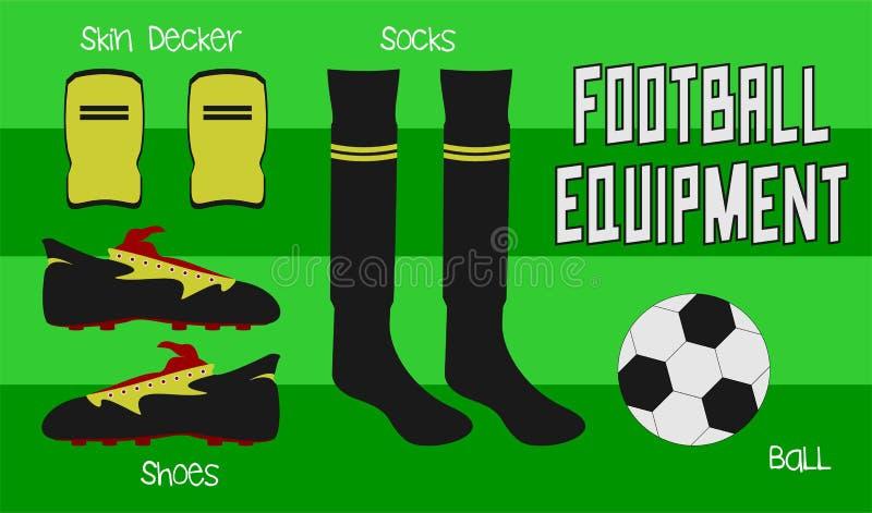 Le football chausse l'illustration de vecteur d'équipement illustration libre de droits