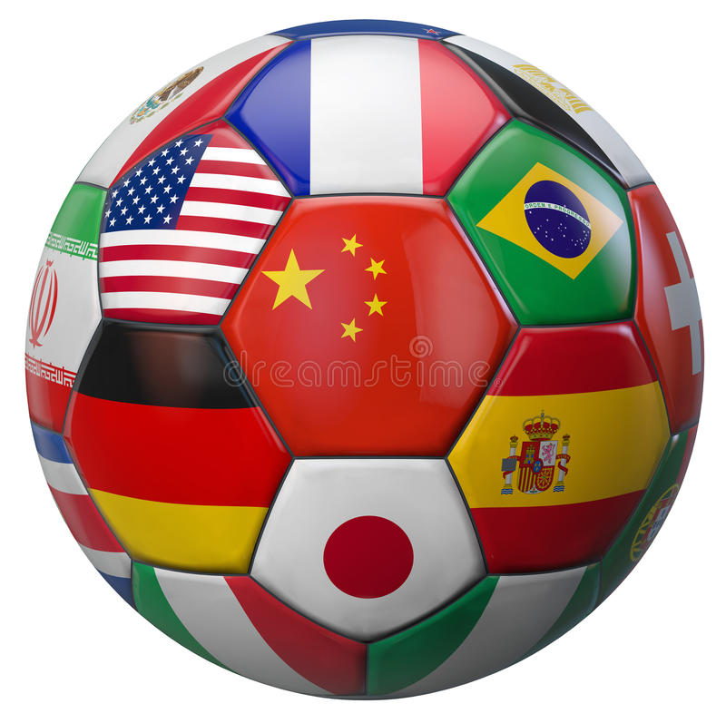 Le football Chine du monde illustration stock