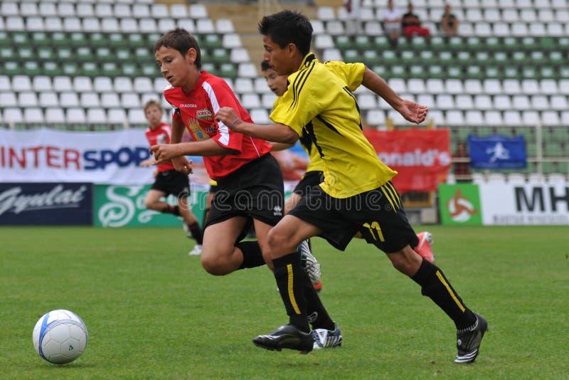 le football d'action photos stock