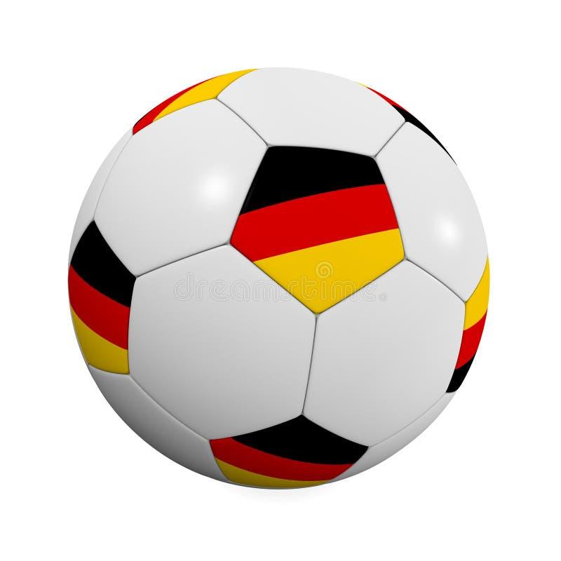 le football d'Allemand de bille illustration de vecteur
