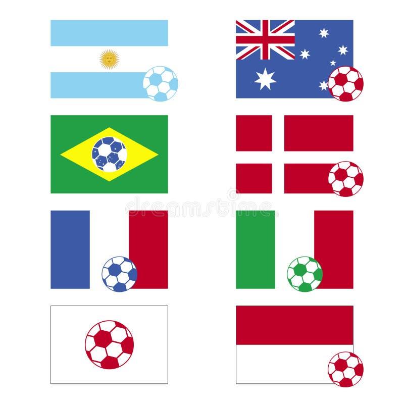 le football d'indicateurs illustration libre de droits
