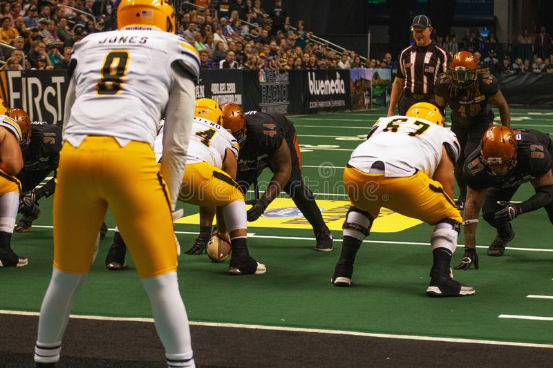 Le football d'int?rieur d'ar?ne de l'Arizona Rattlers photographie stock