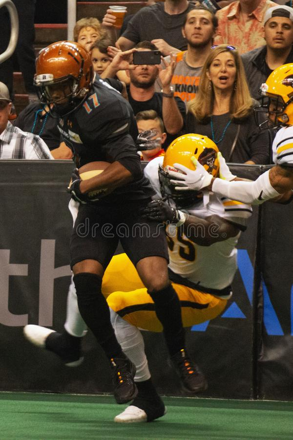 Le football d'int?rieur d'ar?ne de l'Arizona Rattlers photos stock