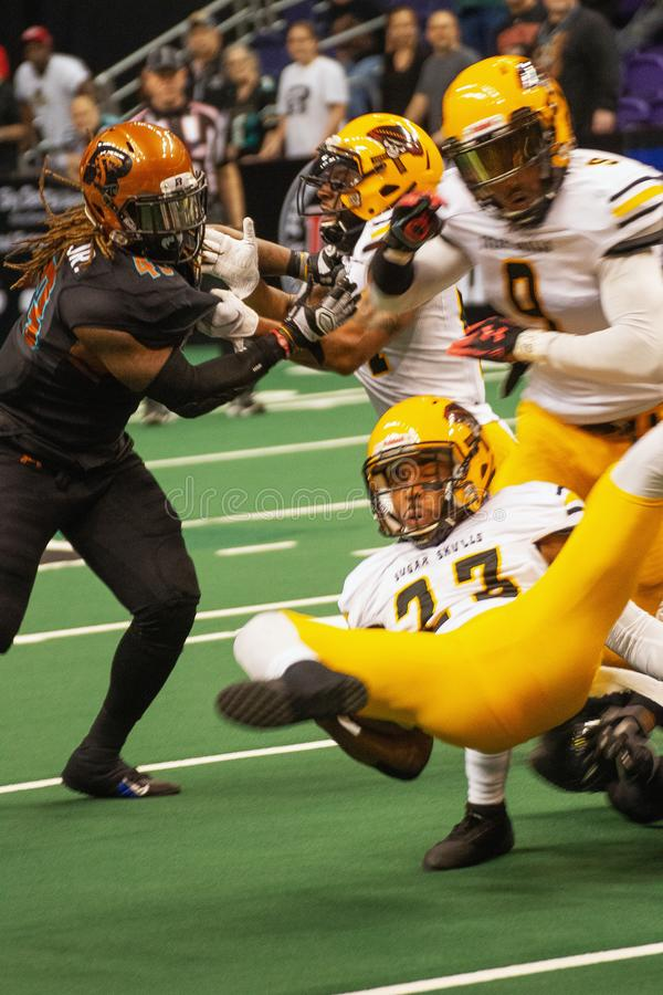 Le football d'int?rieur d'ar?ne de l'Arizona Rattlers image stock