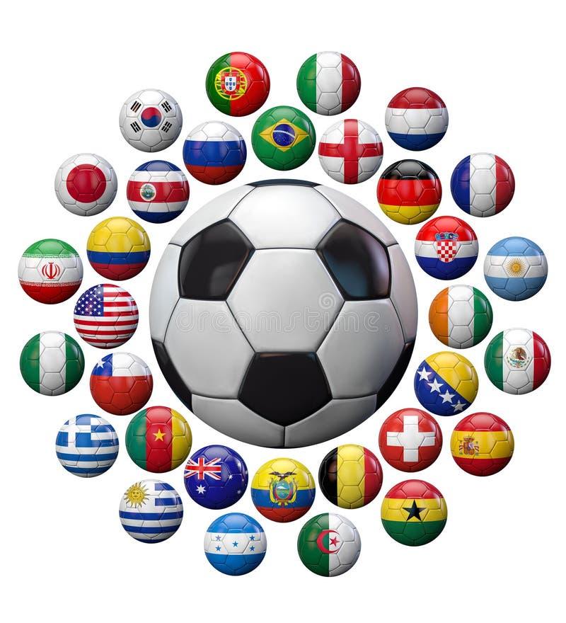 Le football d'isolement illustration de vecteur