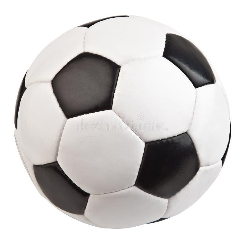 Le football d'isolement sur le fond blanc photos libres de droits