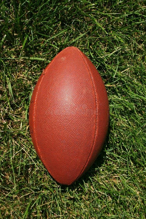 Le football dans l'herbe photo libre de droits
