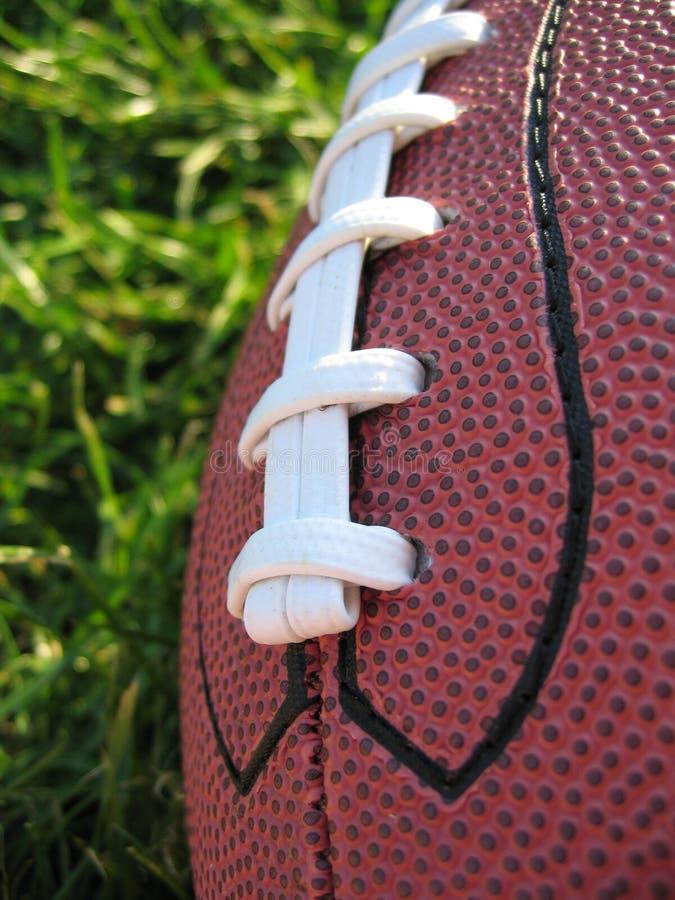 Le football dans l'herbe photographie stock libre de droits