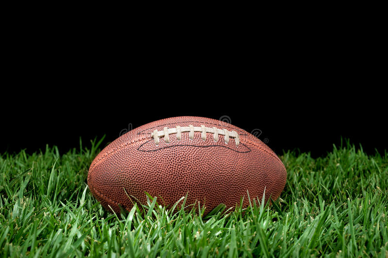 Le football dans l'herbe image stock