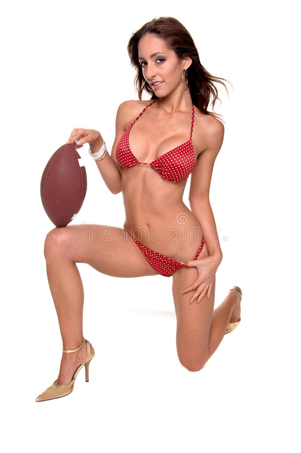Le football de bikini photographie stock libre de droits