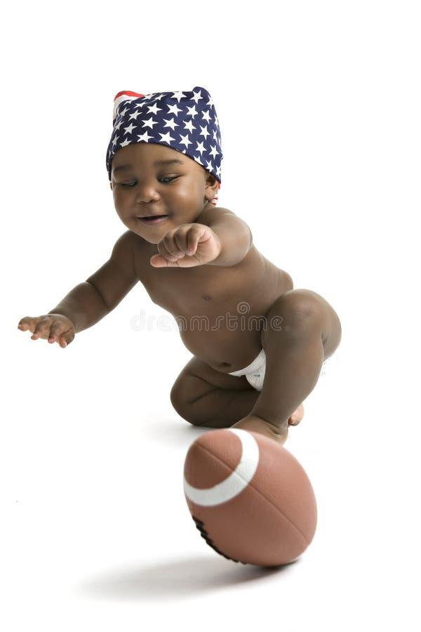 le football de chasseur de chéri photo stock