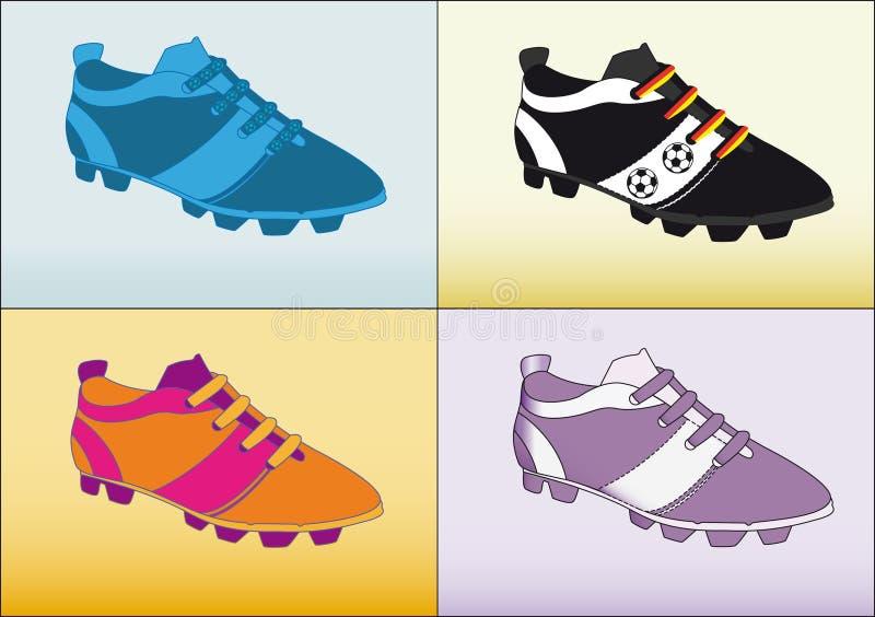 Le football de chaussure du football illustration stock