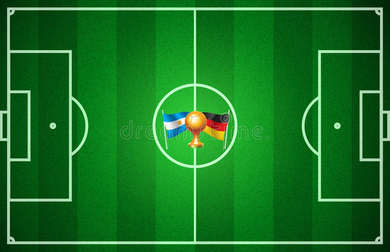 Le football de coupe du monde illustration de vecteur