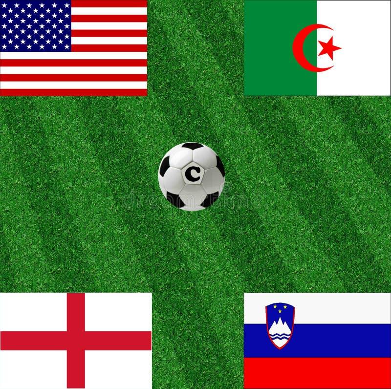 Le football de coupe du monde du groupe C illustration libre de droits