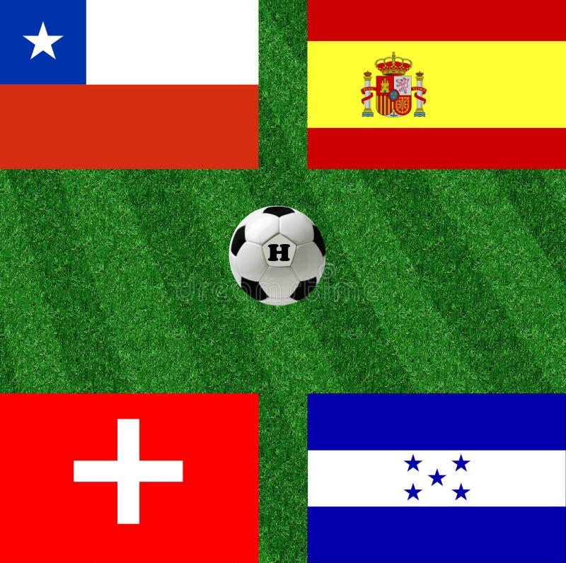 Le football de coupe du monde du groupe H illustration de vecteur