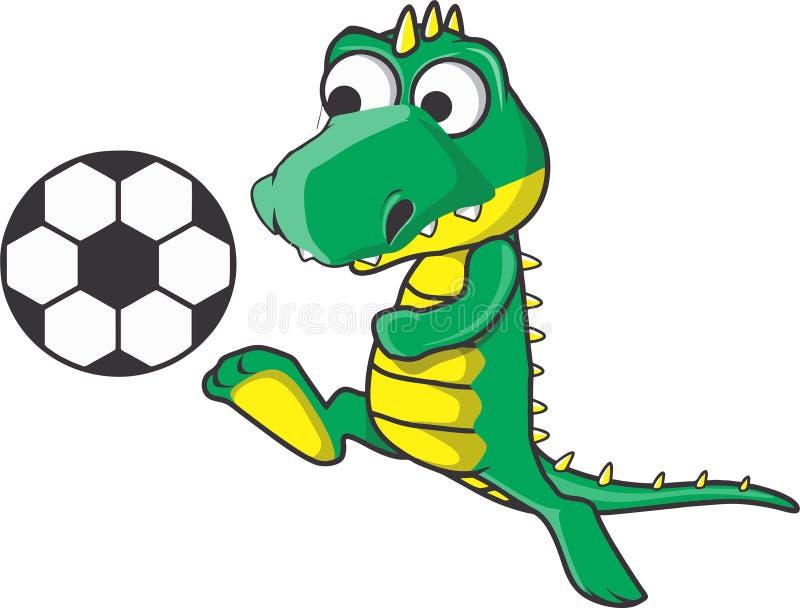 Le football de crocodile photos stock