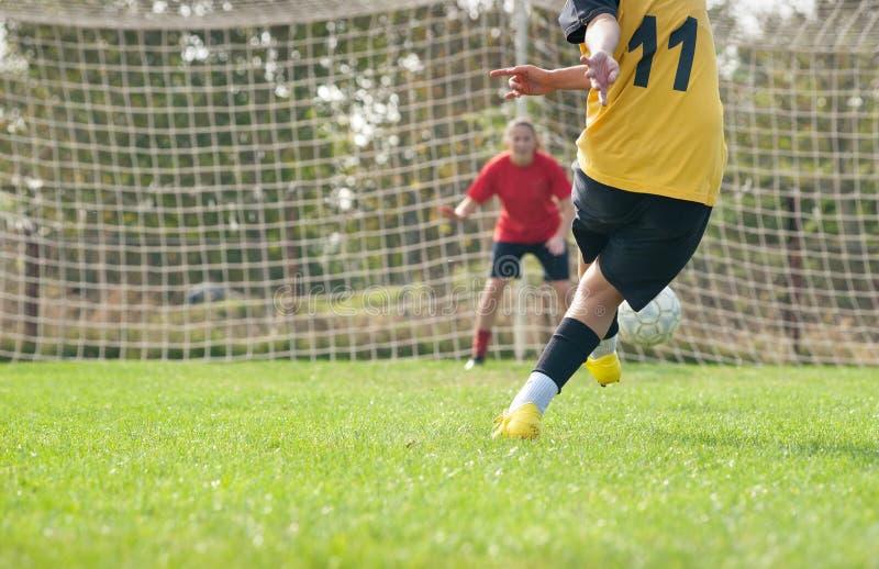 Le football de femmes photo libre de droits