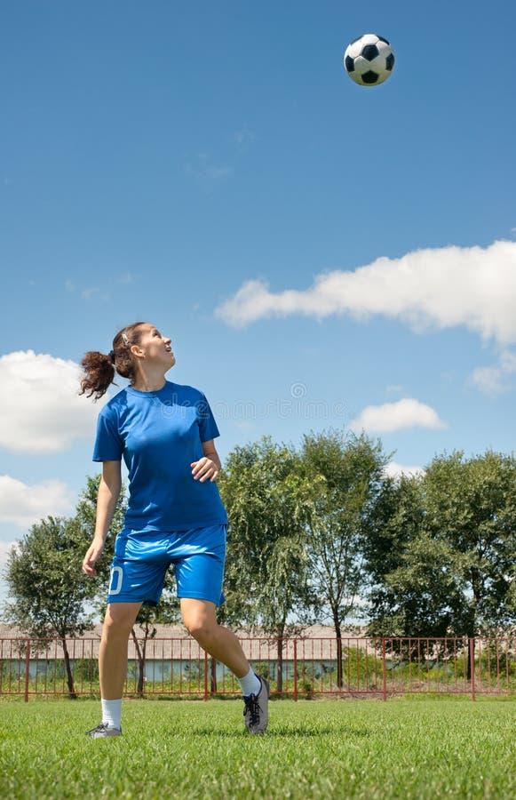 Le football de femmes photographie stock