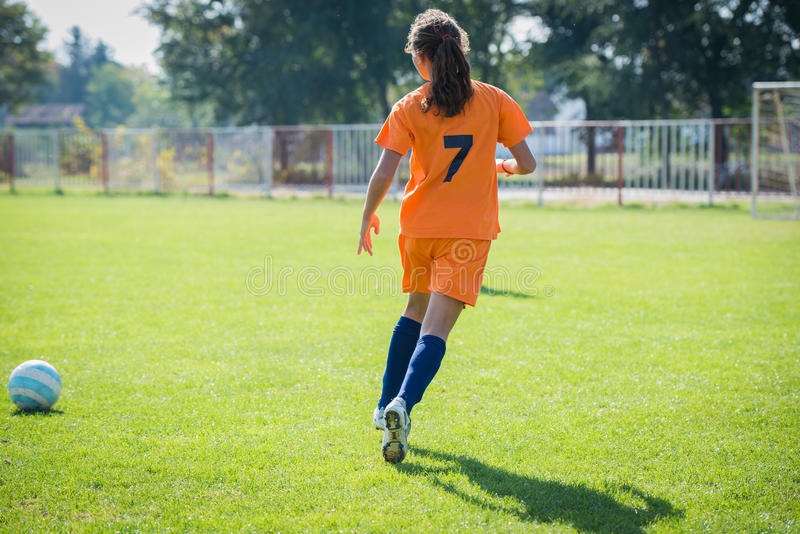 Le football de fille photo libre de droits