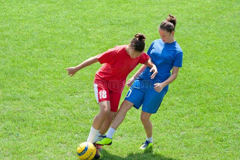Le football de filles photos libres de droits