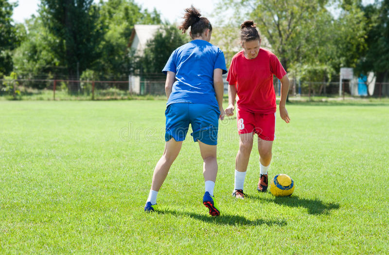 Le football de filles photo libre de droits
