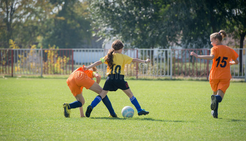 Le football de filles photos libres de droits