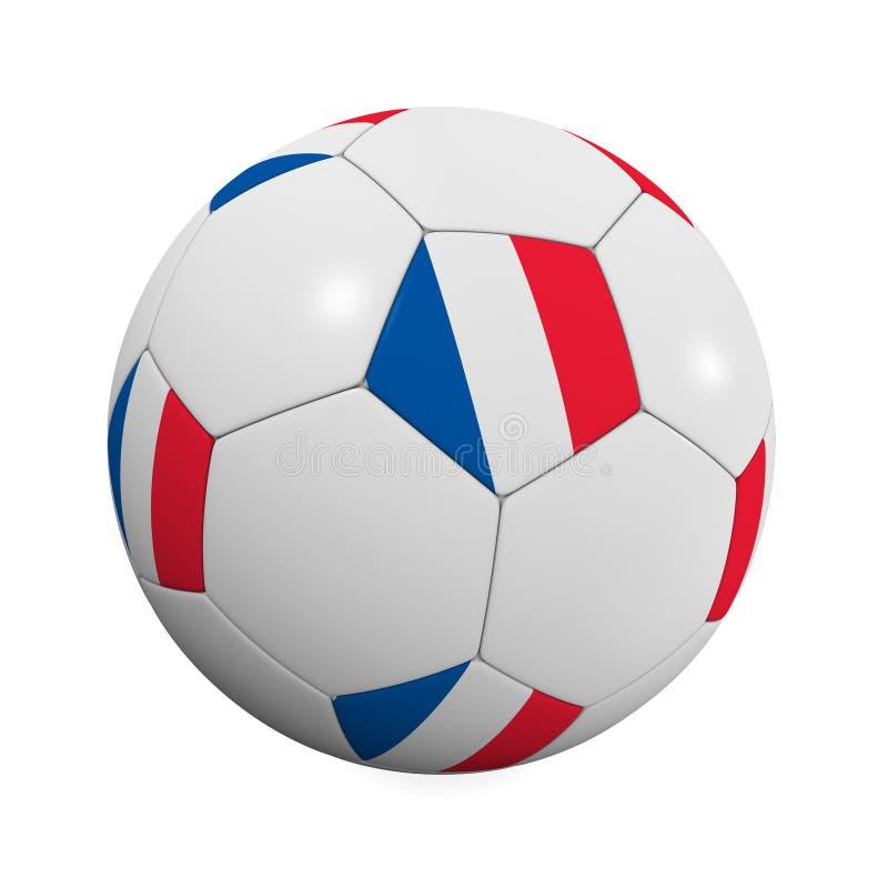 le football de Français de bille illustration libre de droits