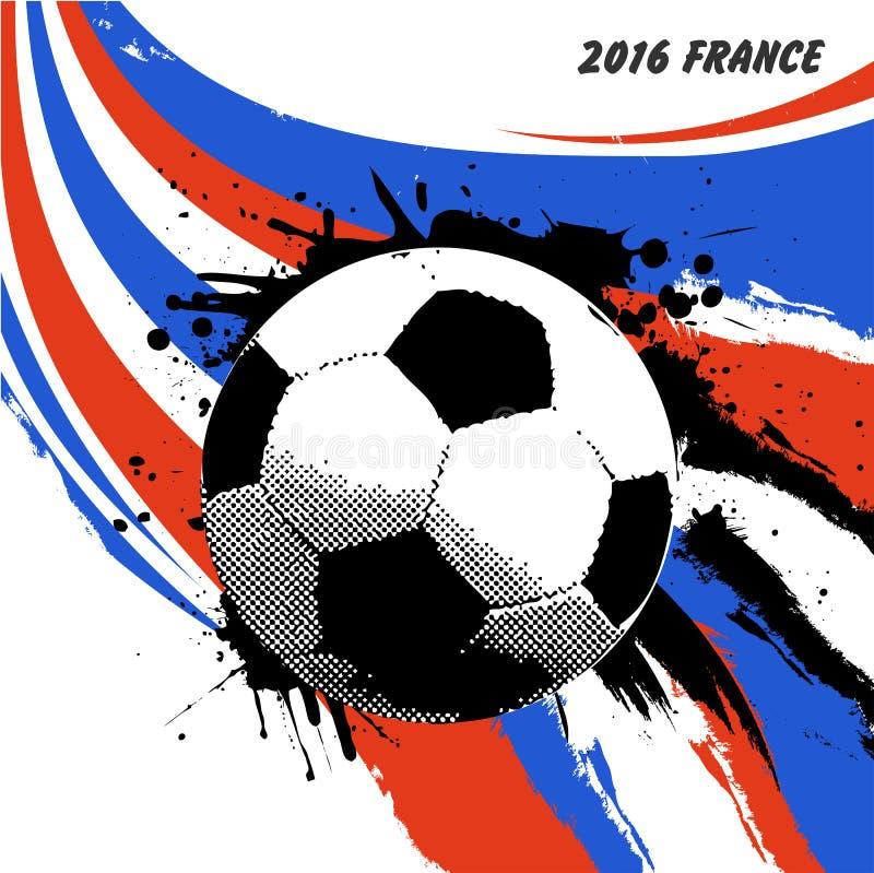 Le football de Frances de l'euro 2016 illustration stock