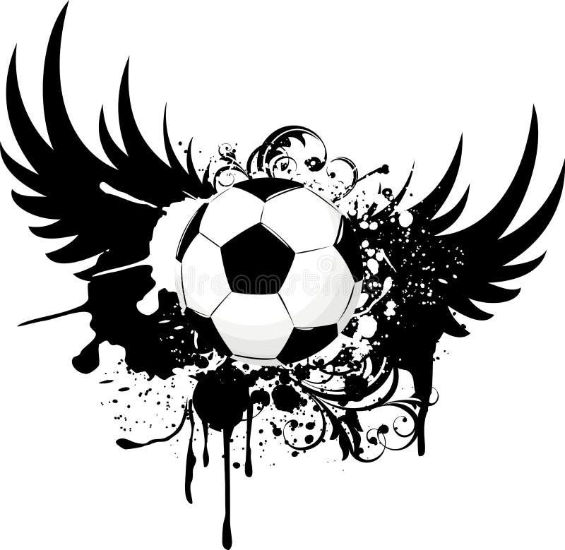 le football de grunge d'emblème illustration libre de droits