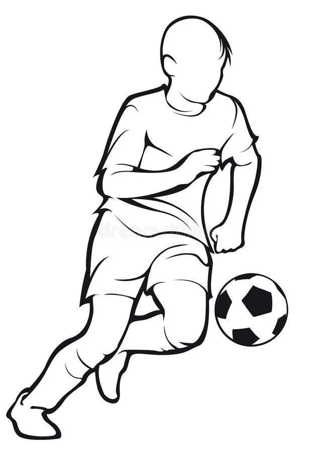 Le football de jeux d'enfant d'isolement sur la découpe blanche sur le blanc images libres de droits
