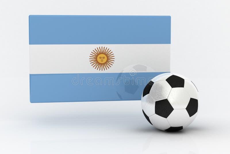 Le football de l'Argentine illustration de vecteur