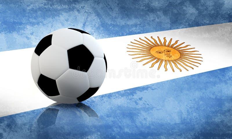Le football de l'Argentine illustration stock