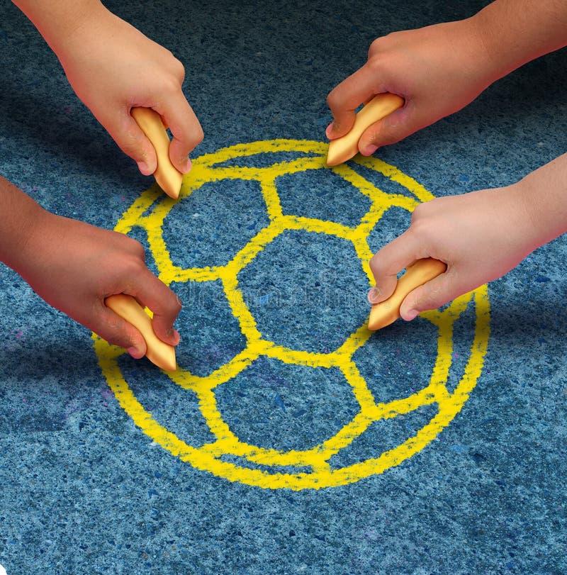 Le football de la Communauté illustration libre de droits