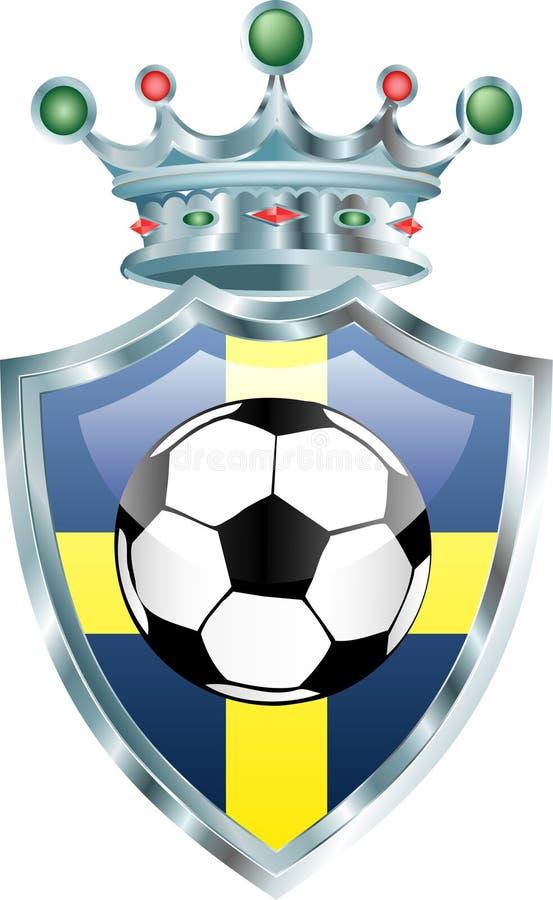 Le football de la Suède illustration de vecteur