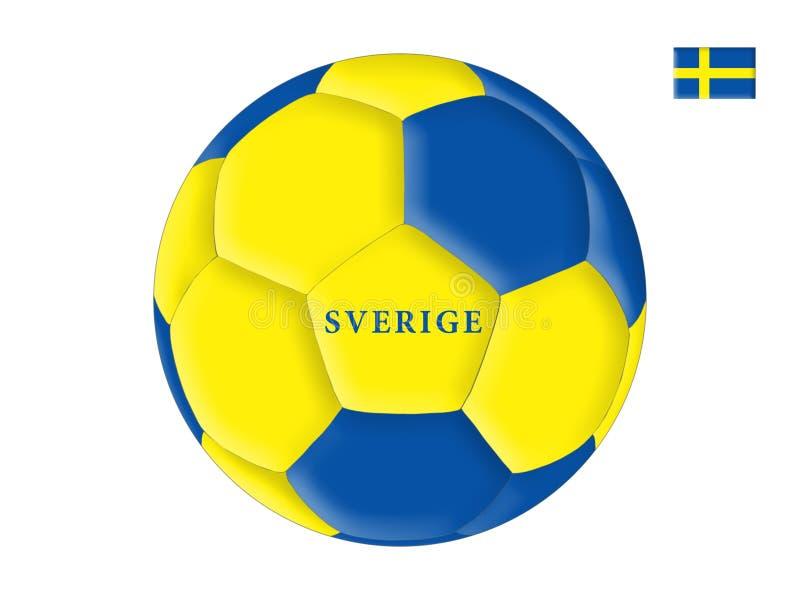 Le football de la Suède illustration stock