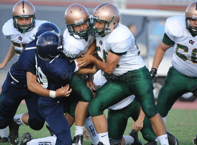 Le football de lycée image libre de droits