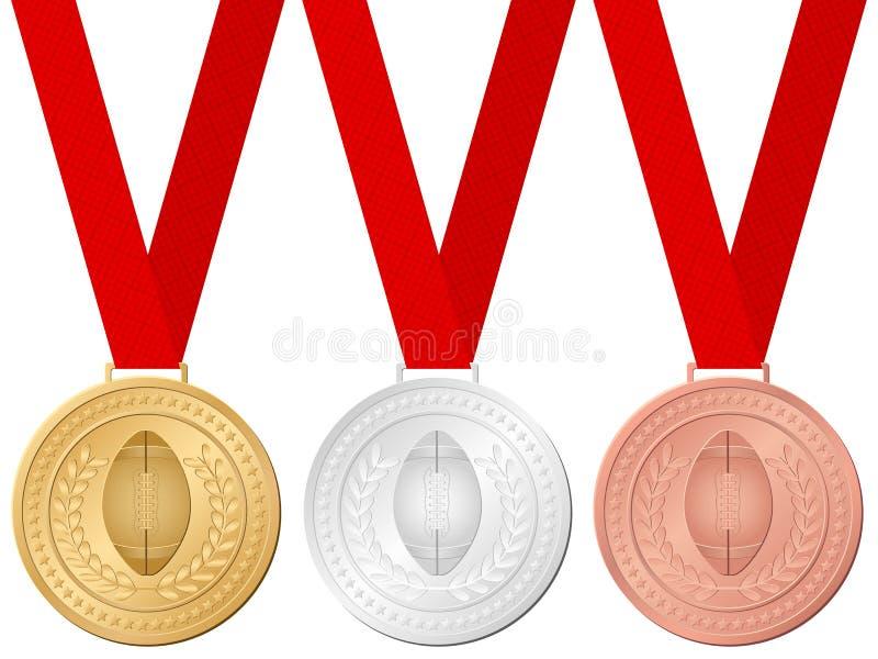 Le football de médailles illustration de vecteur