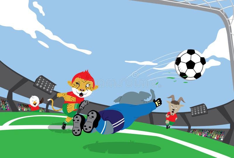 Le football de mascotte illustration de vecteur