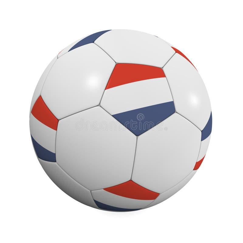 le football de Néerlandais de bille illustration stock