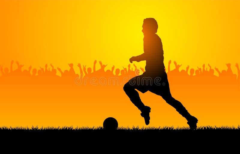 Le football de pièce illustration de vecteur