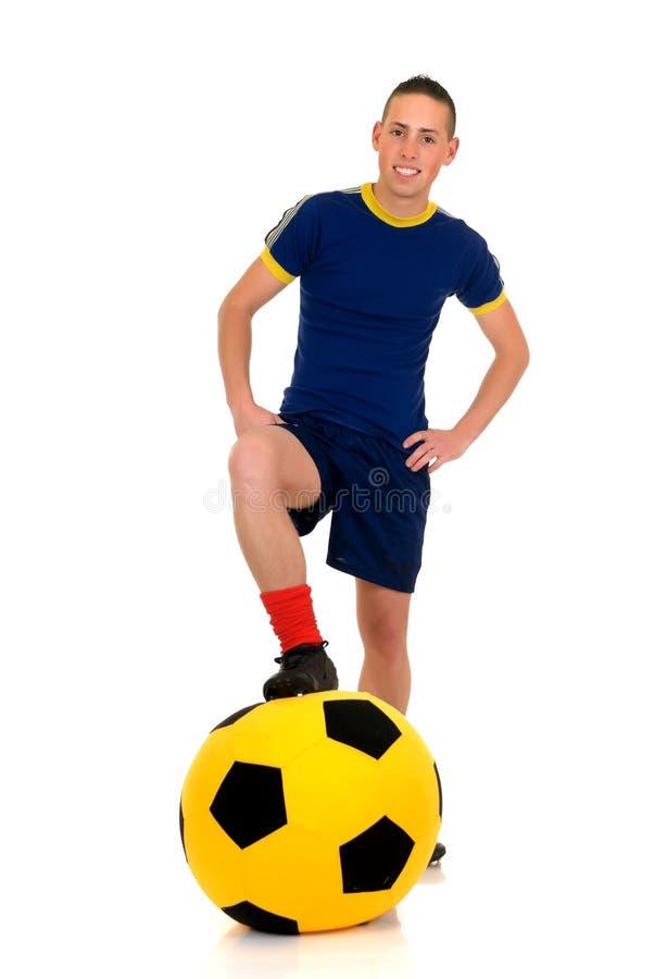 Le football de pièce, le football image stock