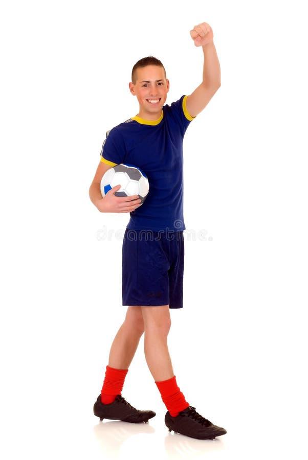 Le football de pièce, le football photo stock