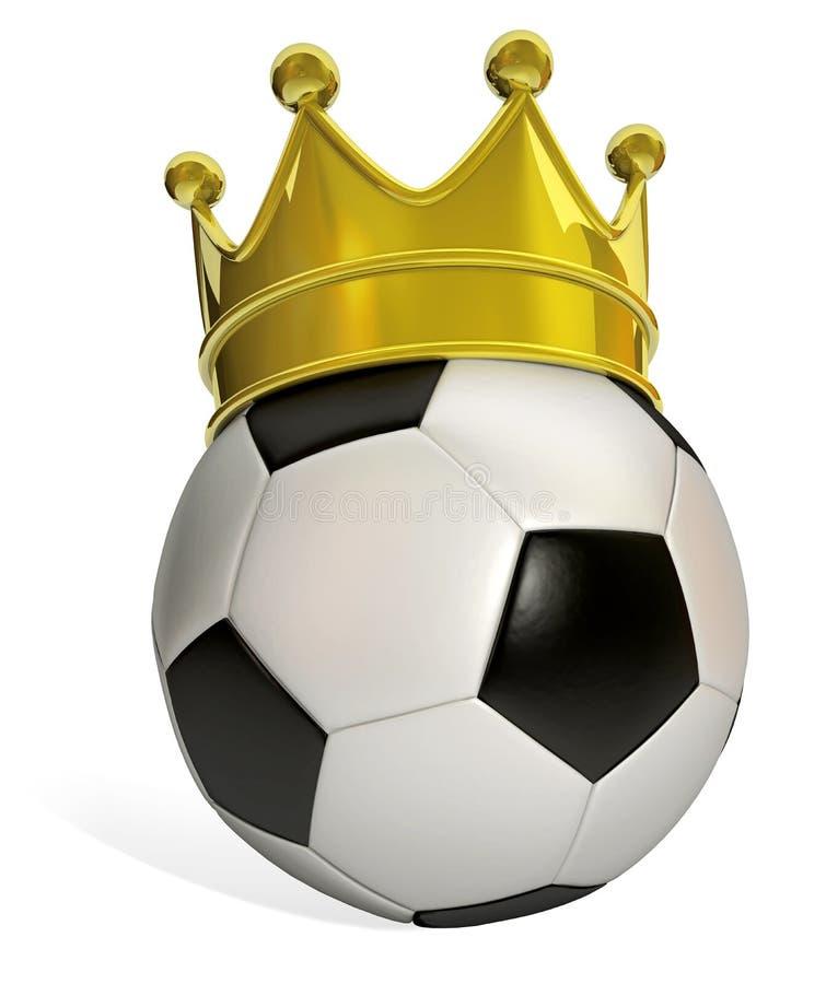 Le football de roi illustration stock