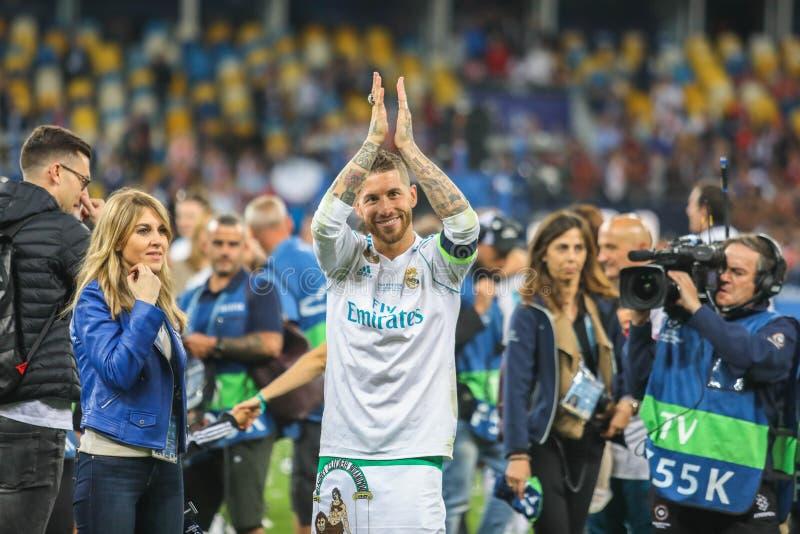 Le football de Sergio Ramos image stock