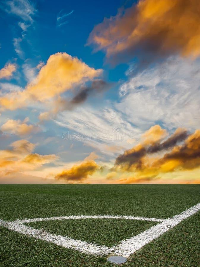 Le football de stade image stock