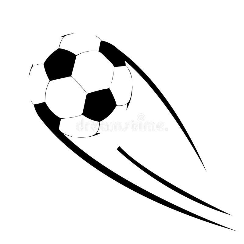 le football de vol de bille illustration stock