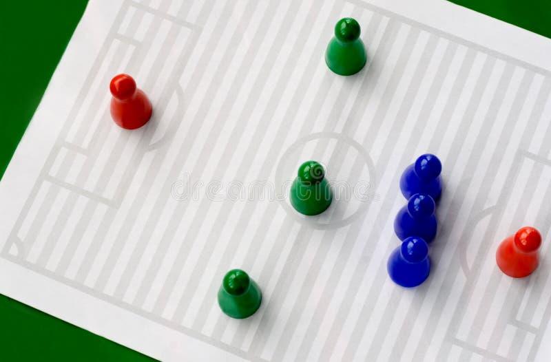 le football de zone photographie stock libre de droits